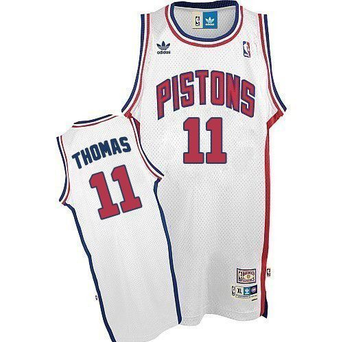 NBA Detroit Pistons Isiah Thomas Swingman Jersey    11 Adidas White  Throwback Mens Adidas64536 02e6bb4a6