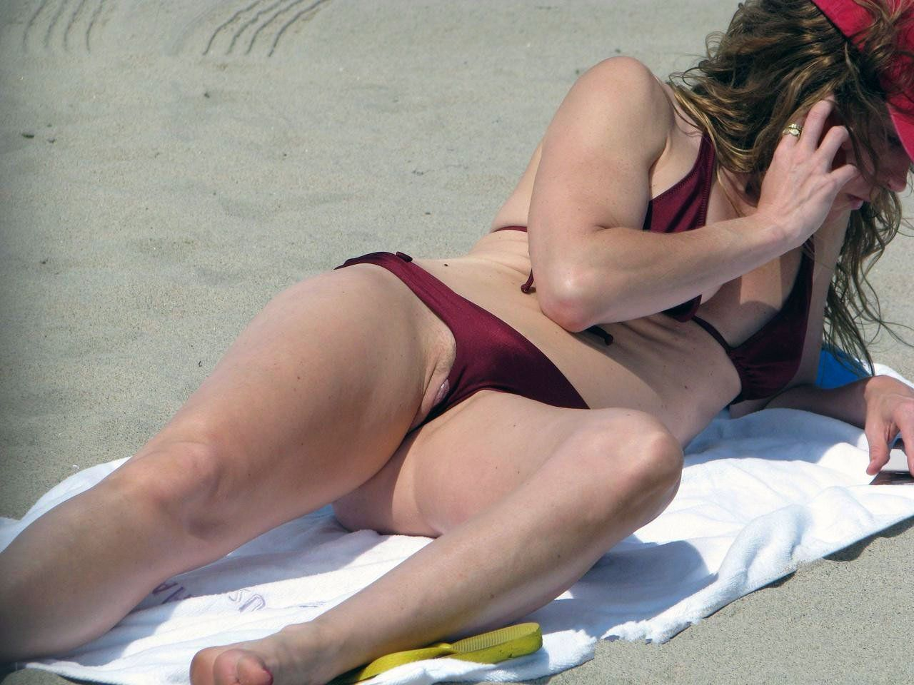 pussy slip Beach