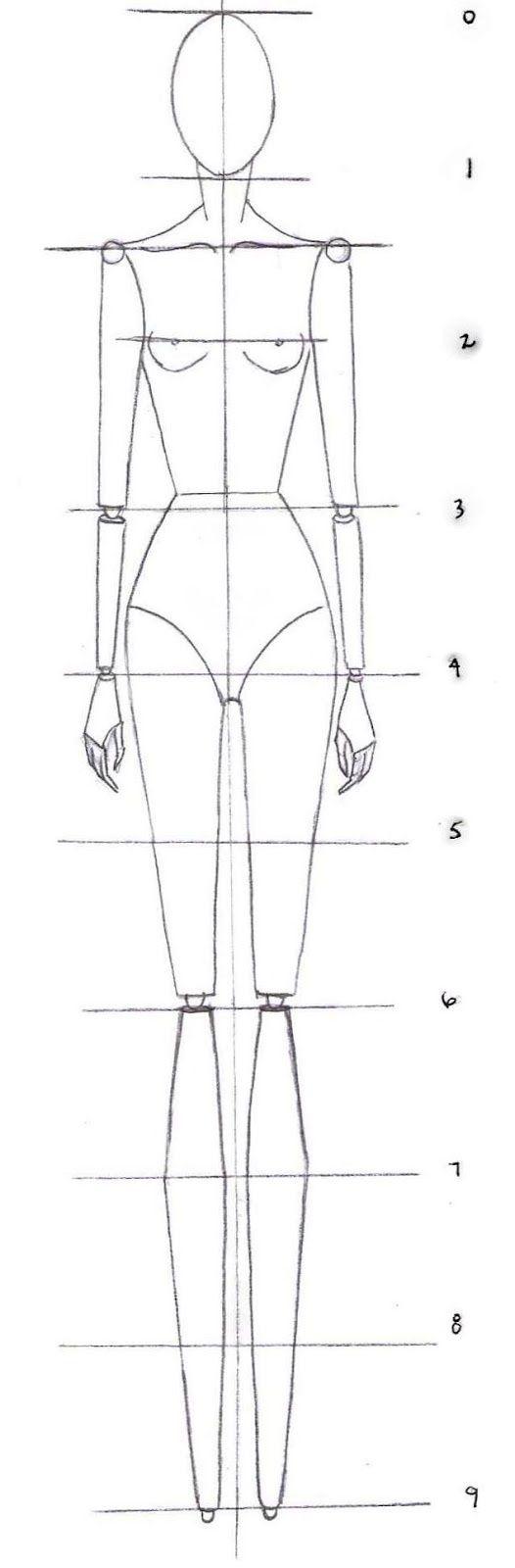 How To Drawing The Proportions Of A Fashion Croquis Designers De Moda Desenho De Moda Desenhos De Moda