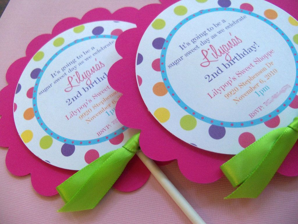 Lollipop Polka Dot Sweet Shoppe Birthday Party by maddieclaire ...