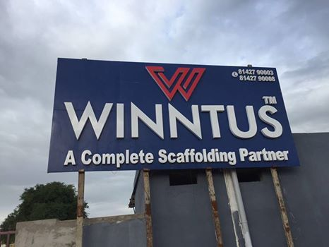 our led signboard for scaffolding giant winntus the sign had to be