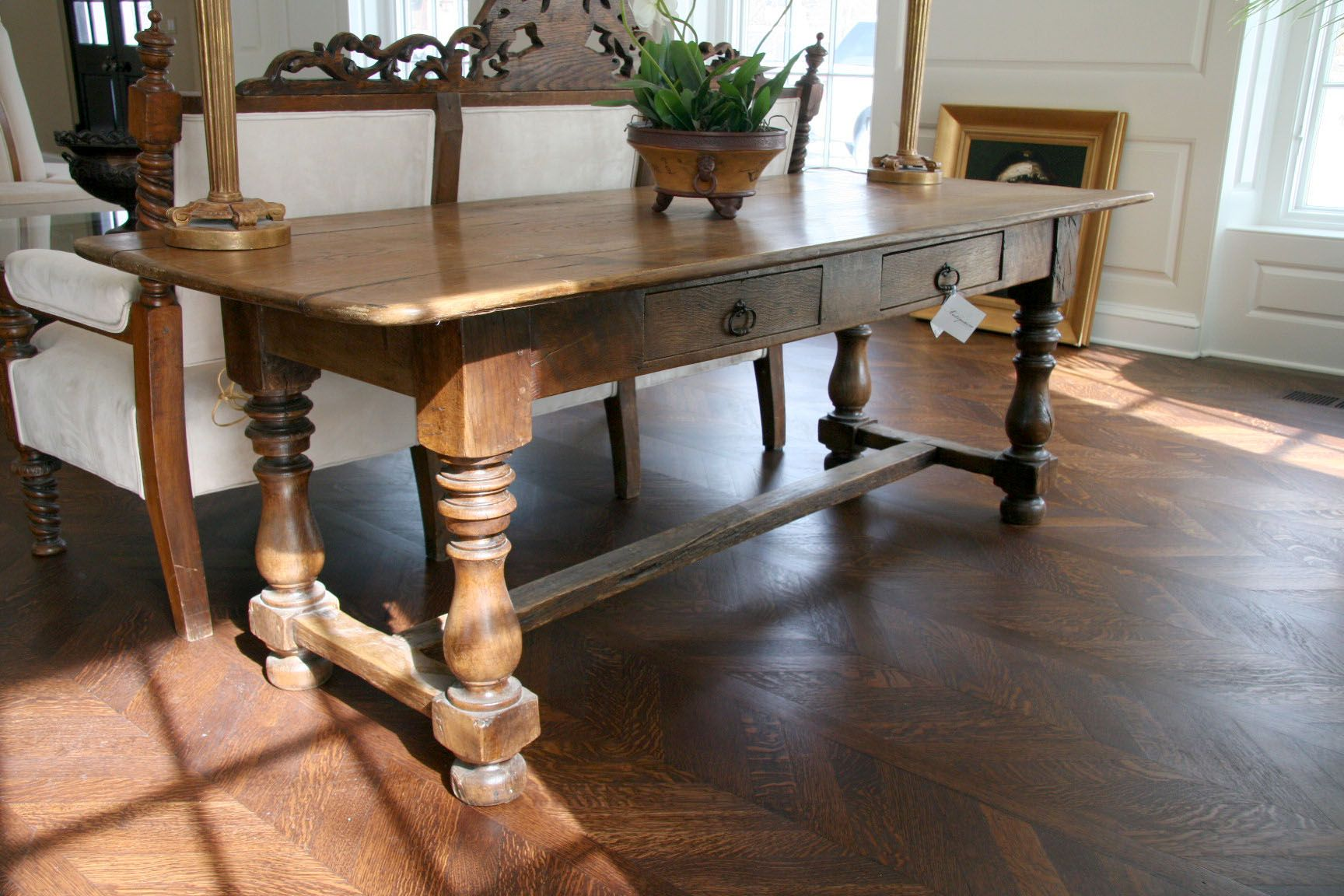 Antique French Farm Dining Table Antique dining tables