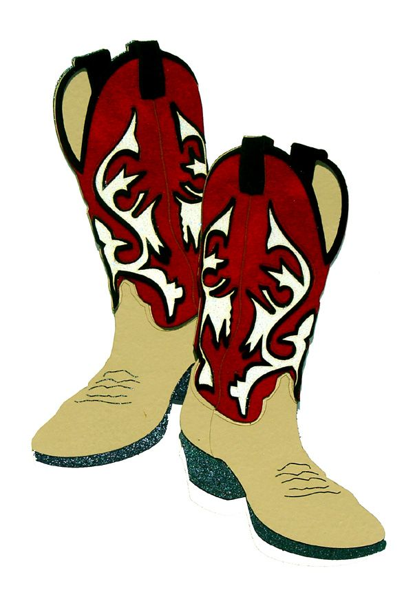 paper wizard travel collection die cuts cowboy boots red and rh pinterest co uk cowboy hat boots clipart baby cowboy boots clipart