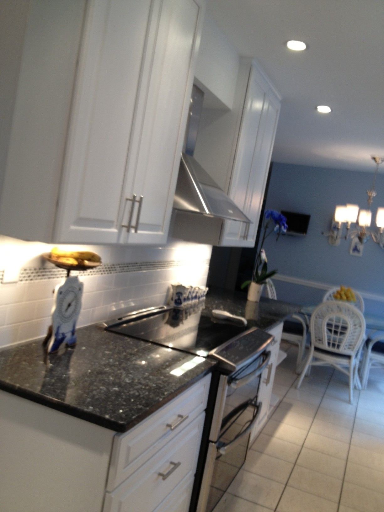 Blue Pearl Granite Backsplash Ideas Part - 37: The Counter Top We Chose Is Blue Pearl Granite With A White Back Splash  That Has. Blue Pearl GraniteBacksplash IdeasKitchen ...