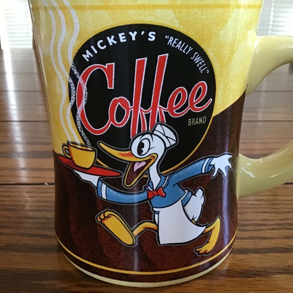 Donald Duck Mickey's Really Swell Coffee Blend Cup Yellow
