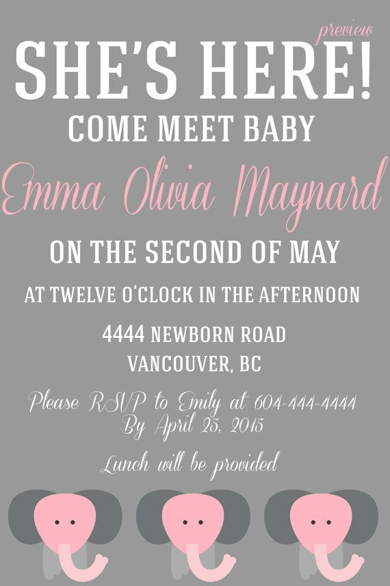 A Baby Must: Meet & Greet Invitation by WifeyCo on Etsy | Baby ...