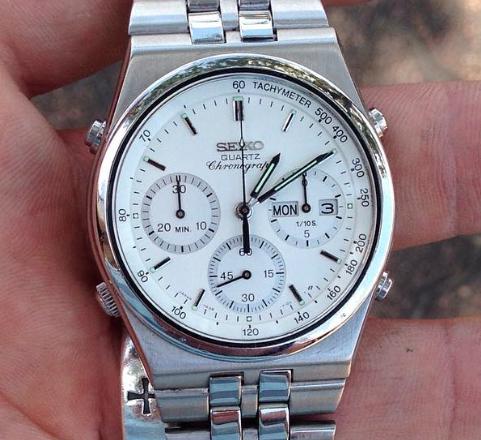 639df7c0b71 Vintage 1985 Seiko 7A38-7280 quartz chronograph