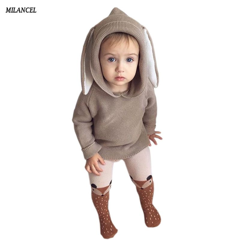 9136d22c7 2018 Spring Baby Boys Sweaters 3D Rabbit Cotton Pullover Kids Girls ...