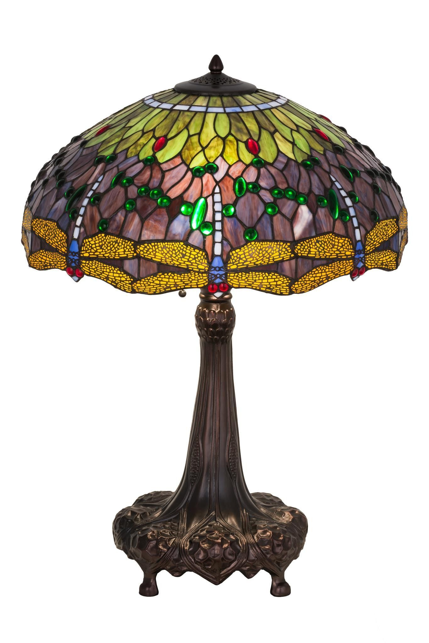 32 Inch H Tiffany Hanginghead Dragonfly Table Lamp