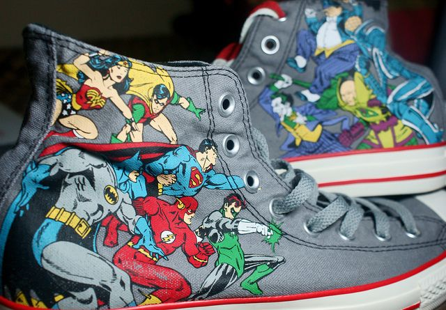 because nothin gets better than super heros on converse <3
