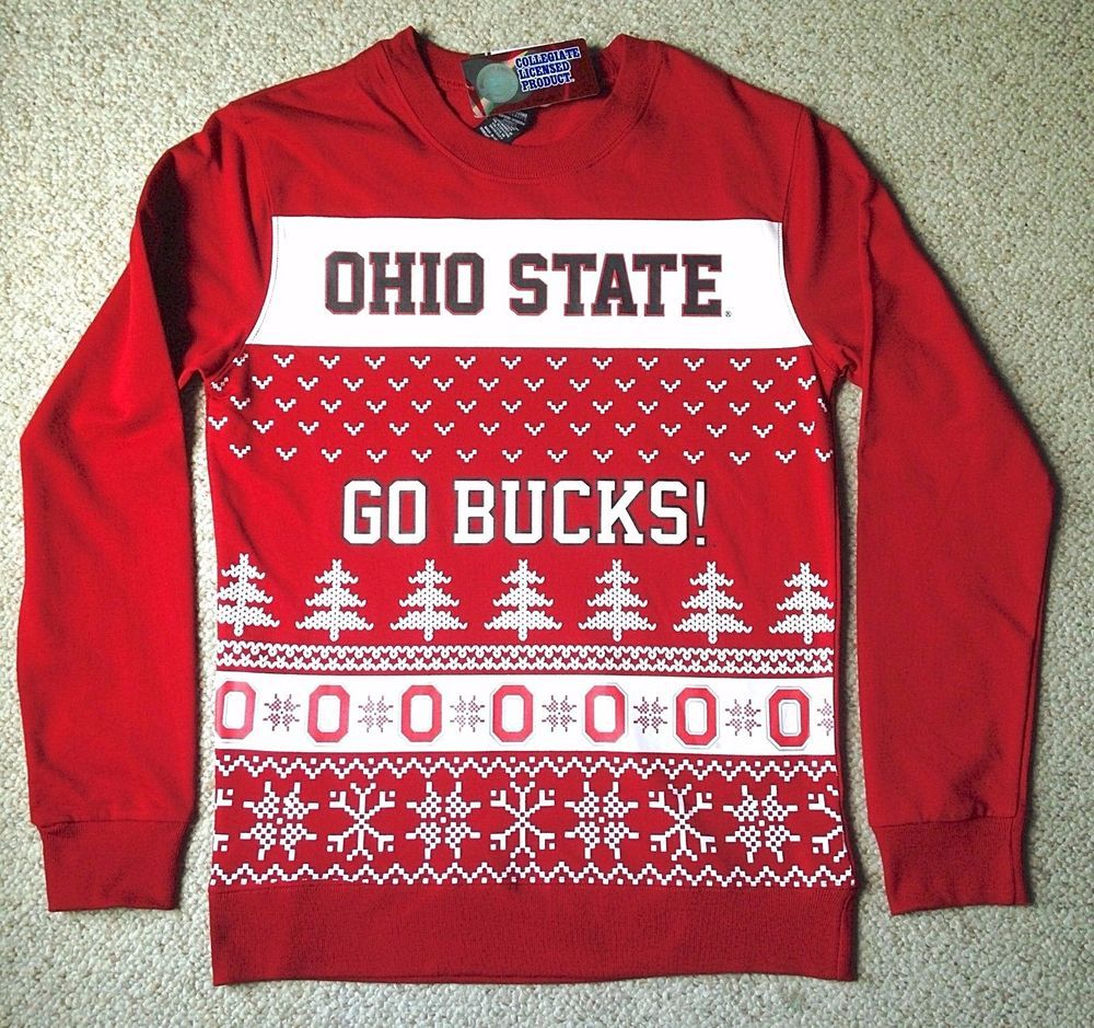 Ohio State Ugly Christmas Sweater.Ugly Christmas Sweater Pattern Ohio State Buckeyes