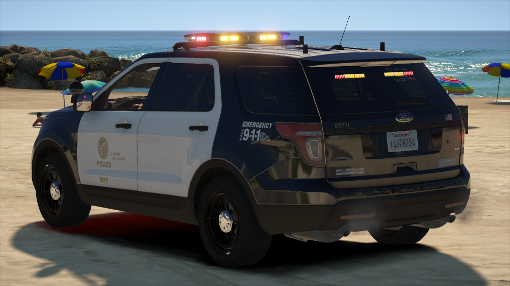 Lapd Ford Police Interceptor Utility 2014 Els Non Els Vehicle Models Lcpdfr Com In 2020 Ford Police Interceptor Police Cars