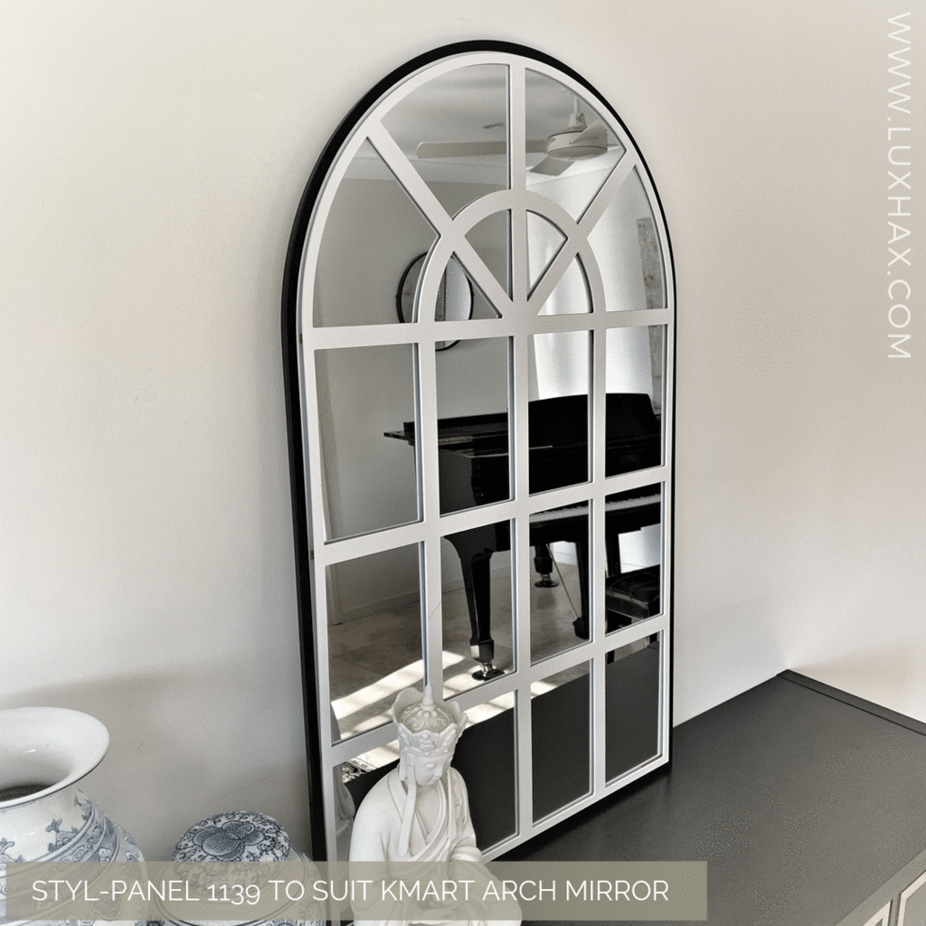 Kmart Hack Aftermarket Panel To Customise Kmart Arch Mirror Arch Mirror Affordable Decor Affordable Furniture
