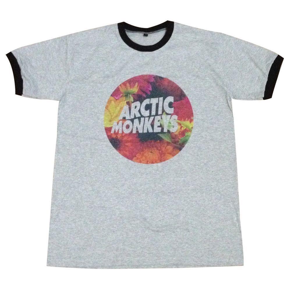 Arctic Monkeys T-Shirt flower floral punk rock band pop music street wear L #Unbranded #ShortSleeve