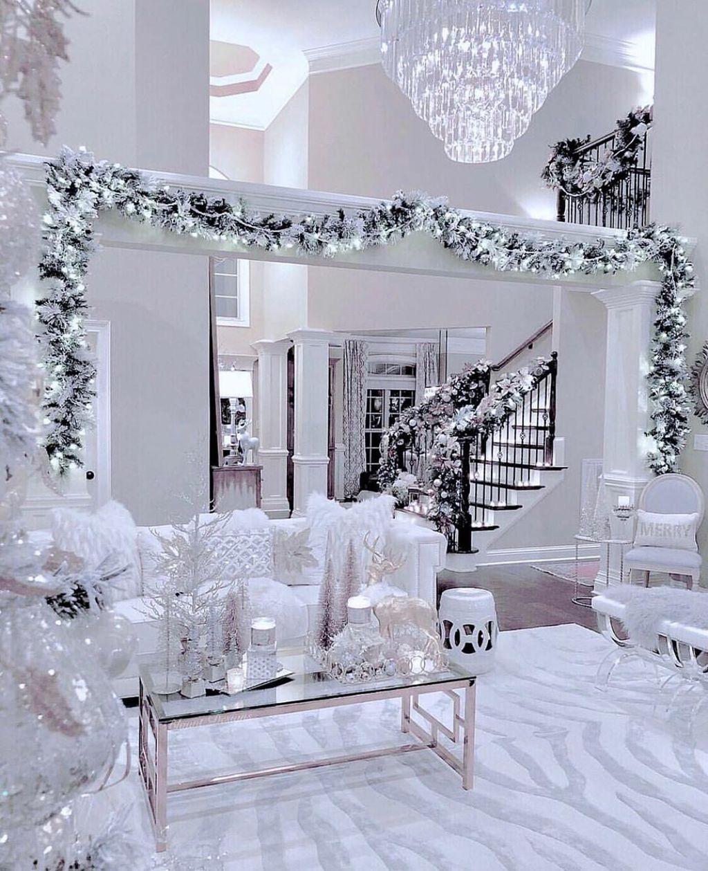 32 Stunning Winter Theme Living Room Decor Ideas You ...