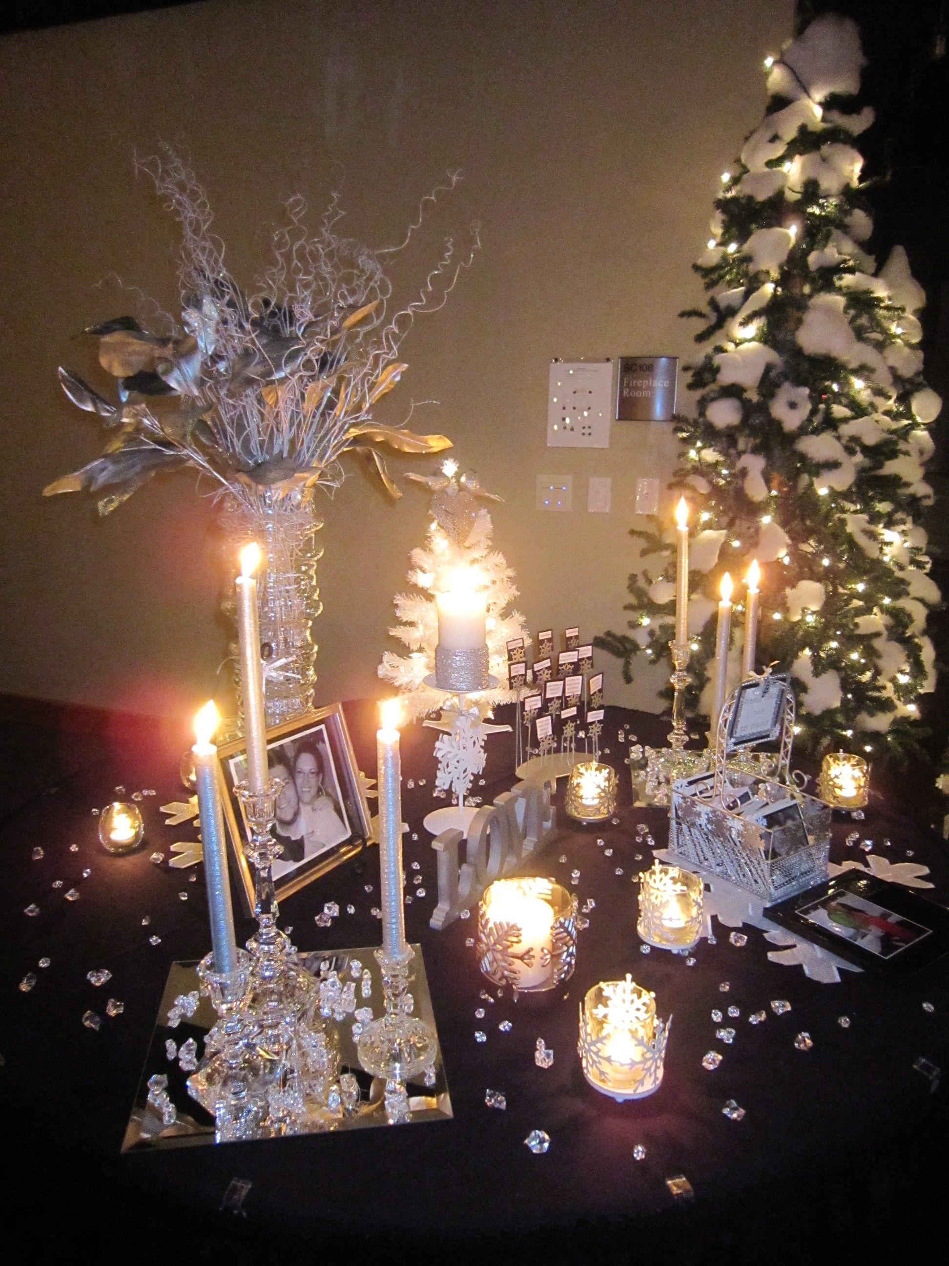 Bride Groom Memory Table At Rehearsal Dinner Memory Table