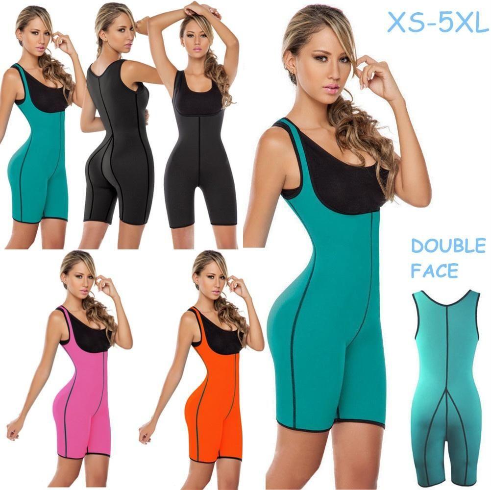 7f85c121a3d Women Sweat Sport Bodysuit Sauna Suit XS-2XL Neoprene Full Body Shaper Ultra