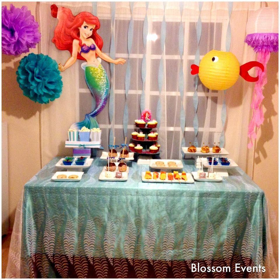 Mesa de postres La Sirenita  Candy Bar y Mesas de Postres