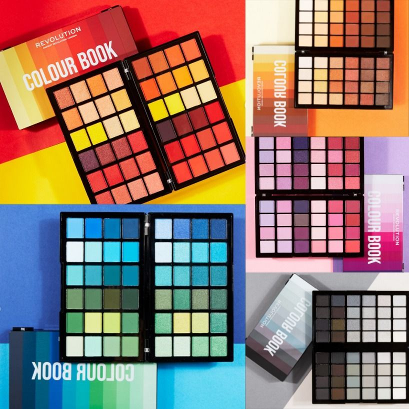 Makeup Revolution Colour Book Palettes Makeup Revolution Drugstore Eyeshadow Makeup