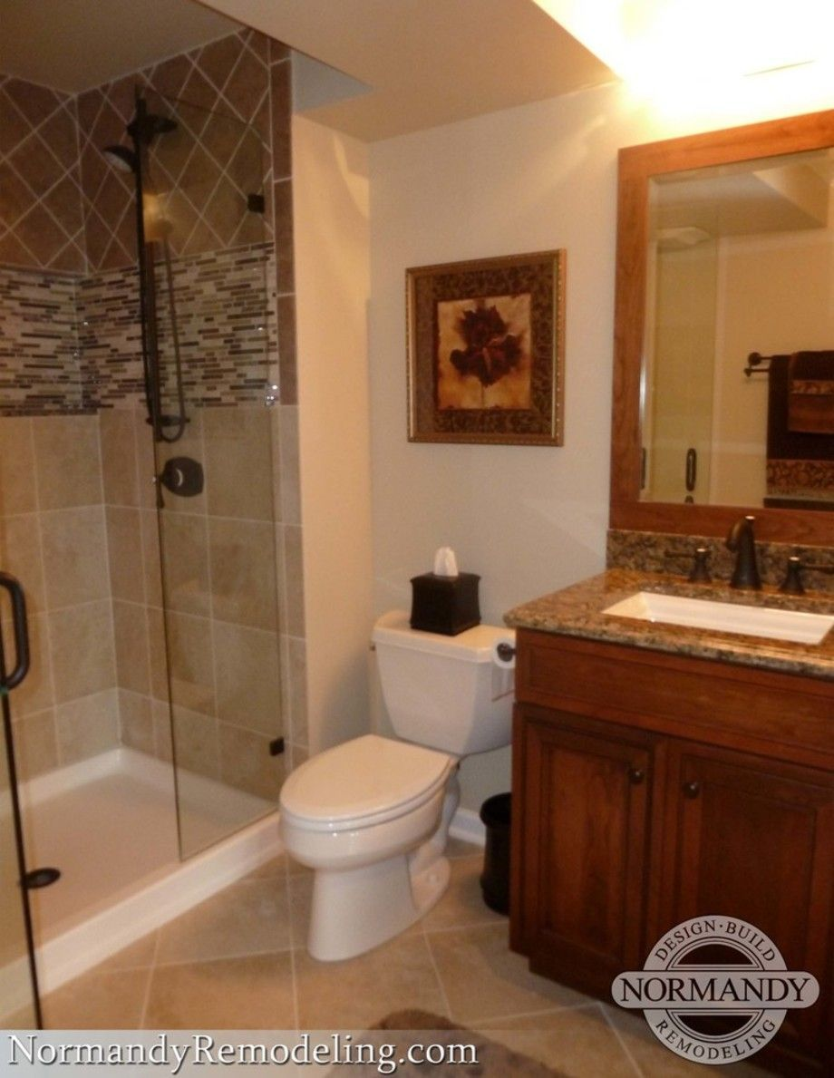 Trendy Basement Bathroom Ideas  Small Basement Bathroom Floor Magnificent Basement Bathroom Remodeling Inspiration