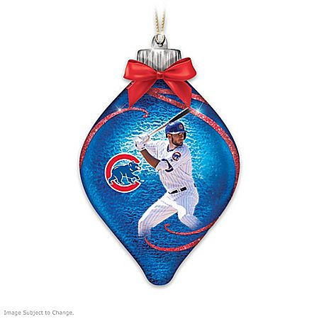 Cubs Christmas Ornaments.Cubs Lighted Glass Christmas Ornament Collection Products