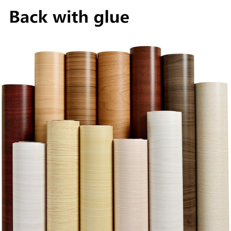 5m Self Adhesive Wallpaper Roll Pvc Waterproof Wall Paper Furniture Vinyl Decorative Film Wood Style Ho Furniture Vinyl Paper Furniture Self Adhesive Wallpaper