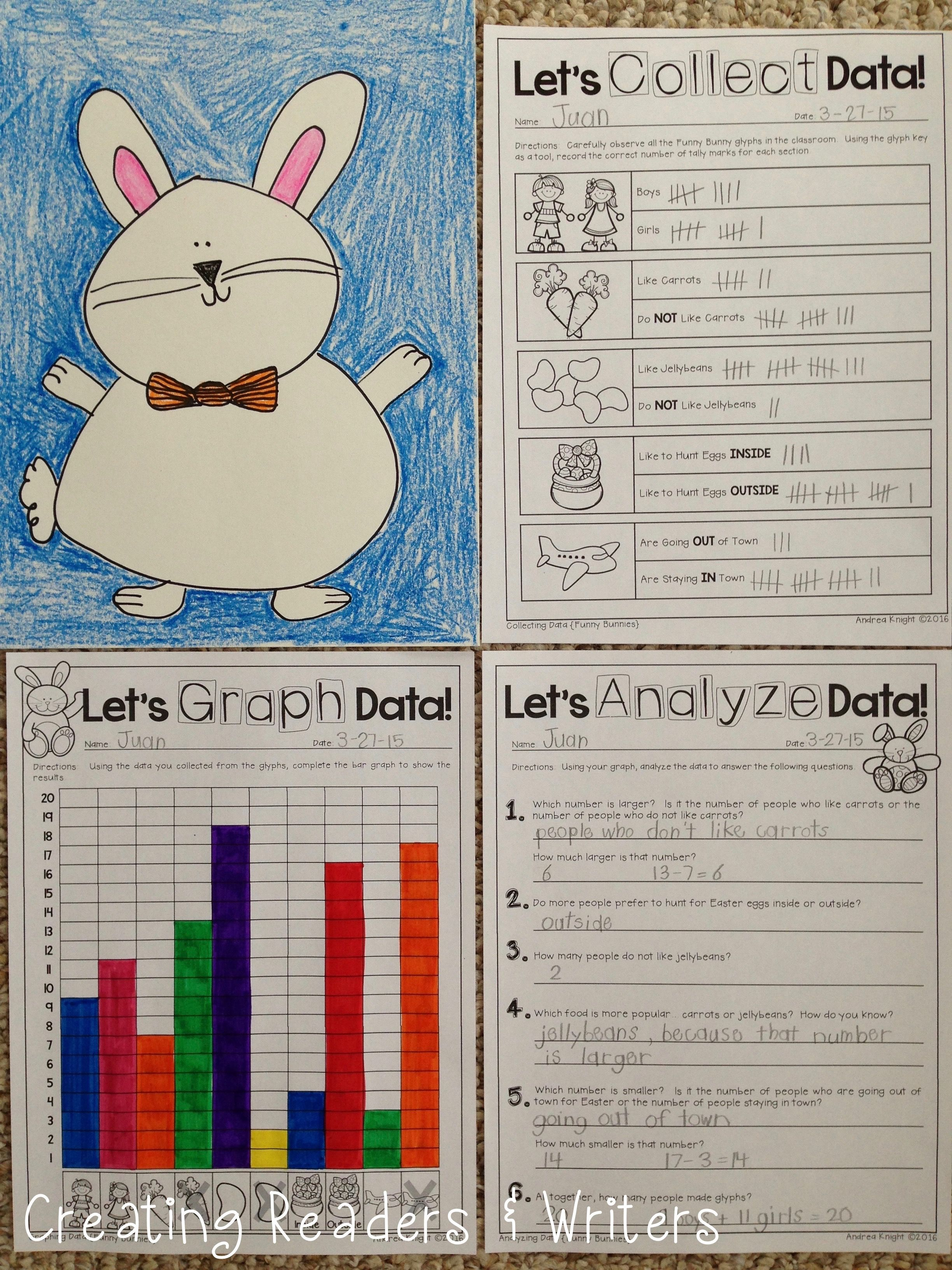 Funny Bunnies A Glyph Amp Graph Math Activity For Easter