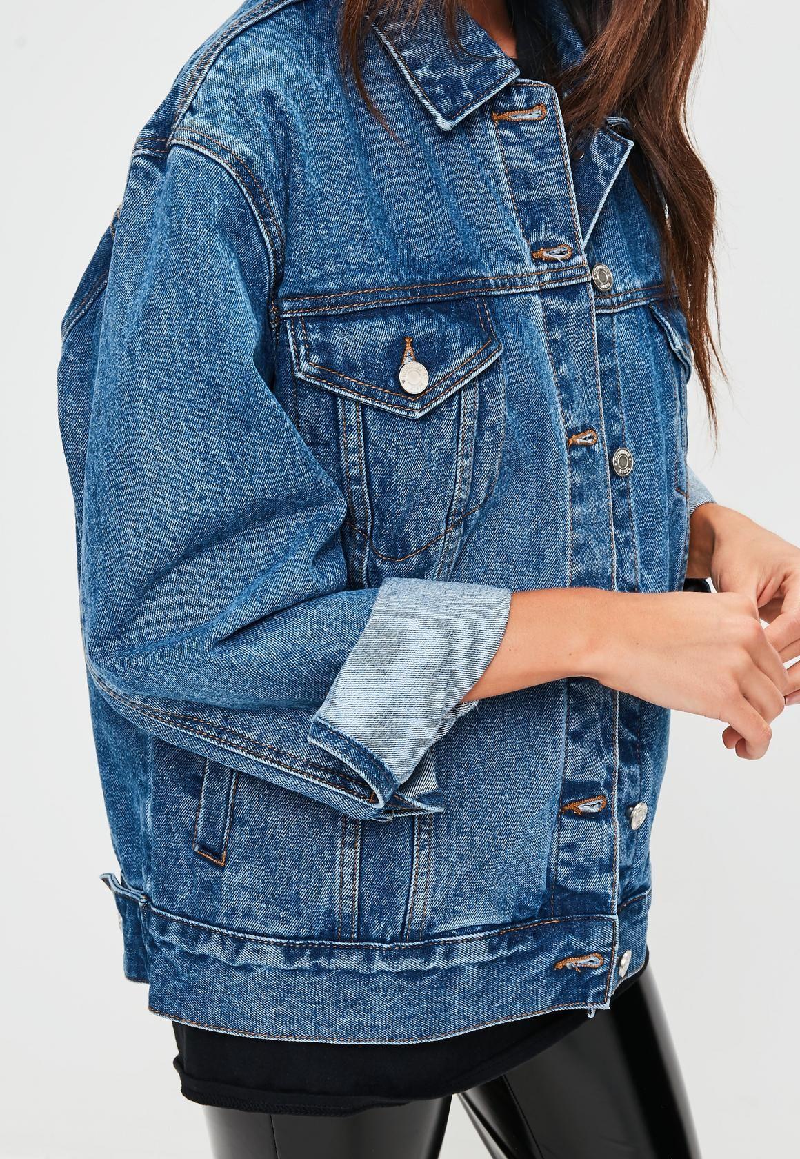 Missguided Blue Oversized Denim Jacket Jean Jacket Outfits Oversized Denim Jacket Oversized Denim Jacket Outfit [ 1680 x 1160 Pixel ]