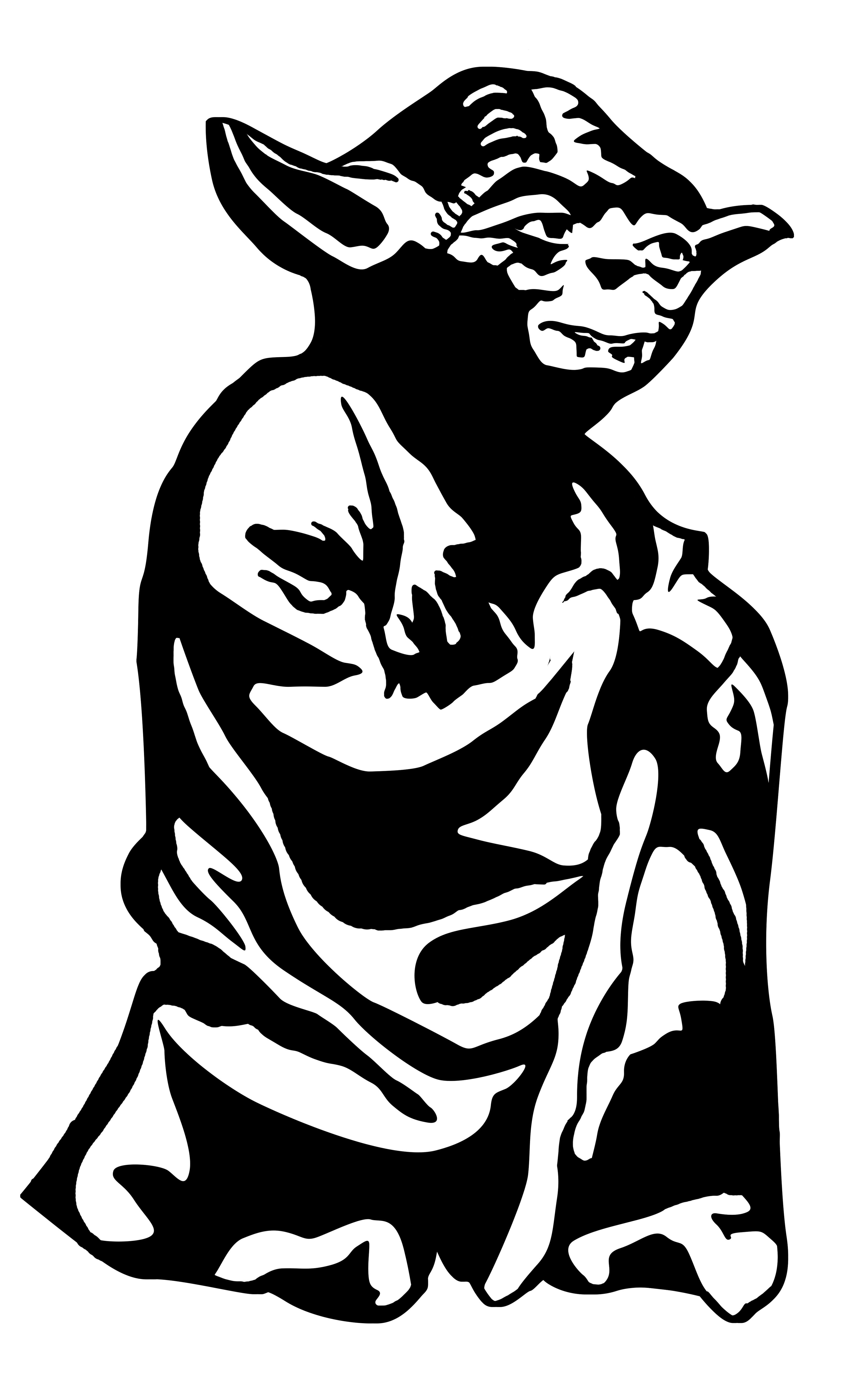 Yoda life size stencil for kids room I made this