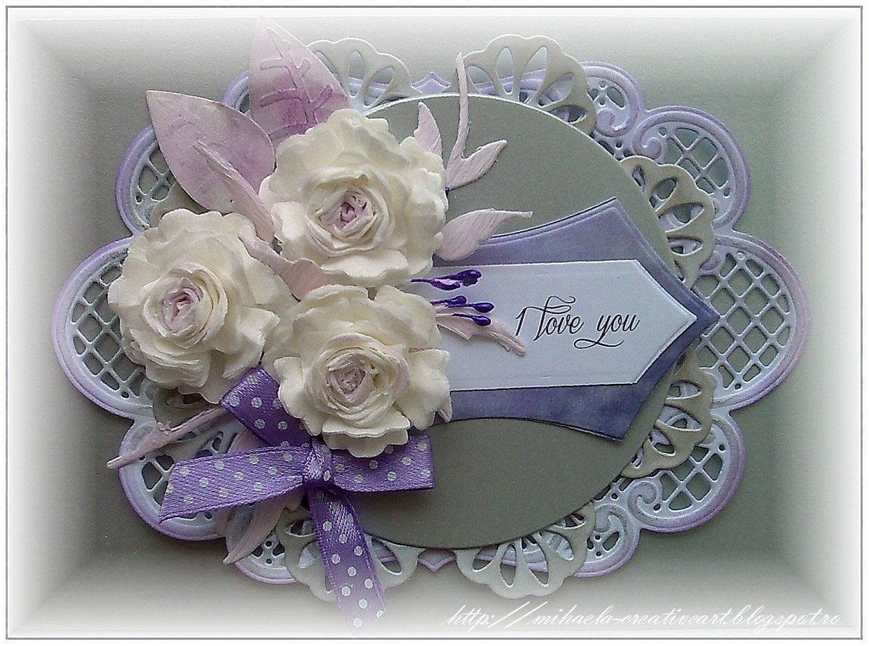 Handmade by Mihaela: Purple , gray and white
