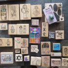 LOT OF New or hardly used RUBBER STAMPS Individual & sets