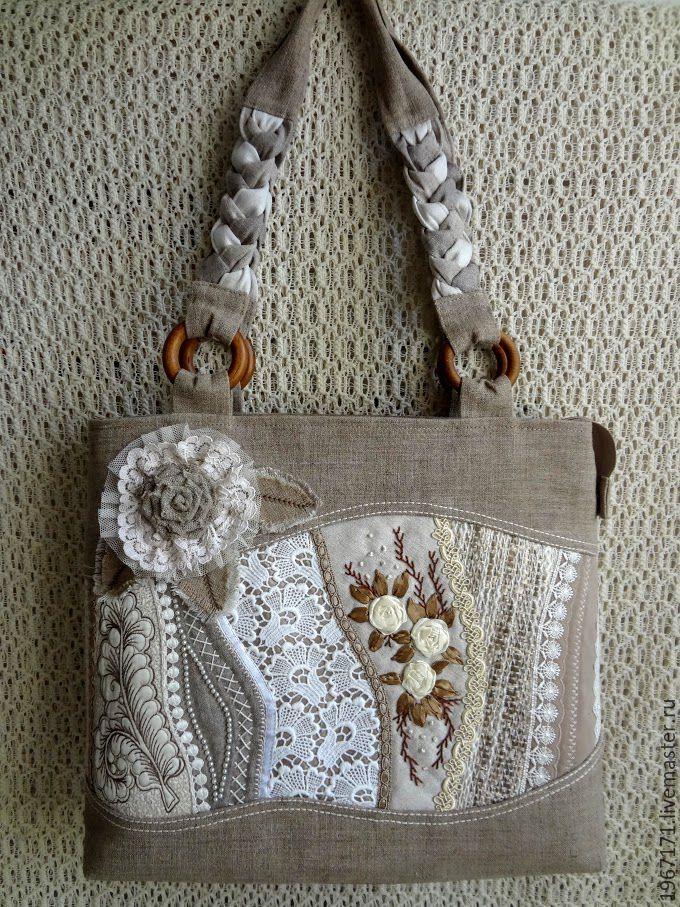d059ebe55254 Купить Сумочка Льняное крейзи . - летняя сумка, льняная сумка, техника-  крейзи, ручная вышивка