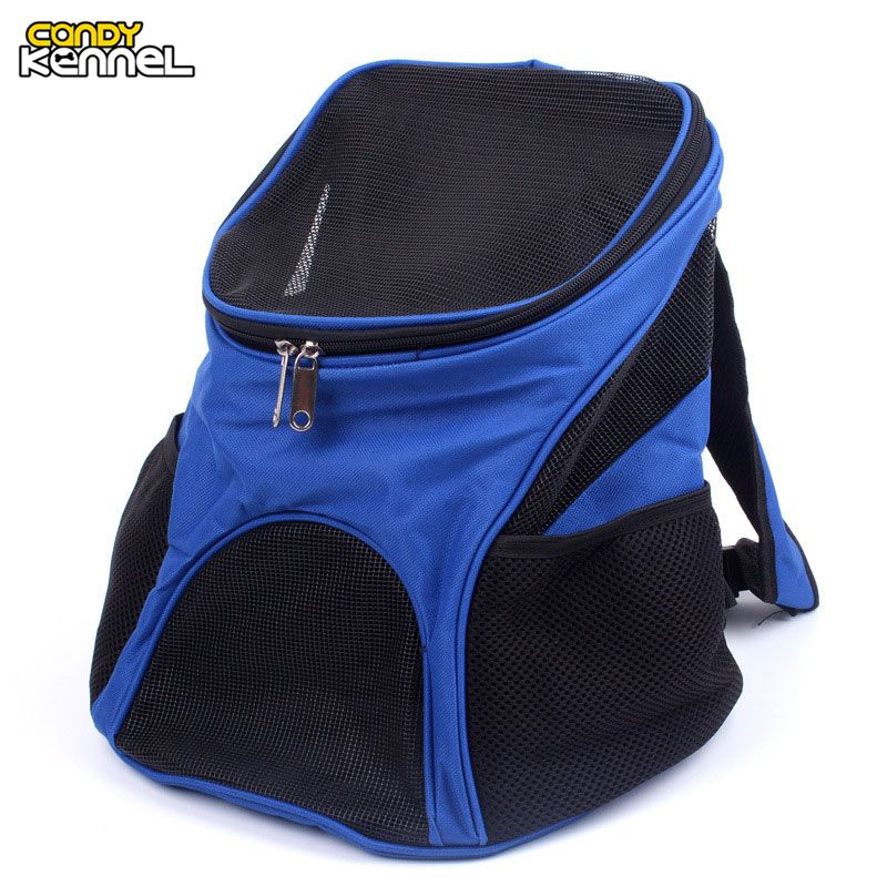 47d876a9f51 CANDY KENNEL Portable Breathable Mesh Oxford Pet Carriers Backpacks  Shoulder Bag Small Dog Cat Outdoor Travel