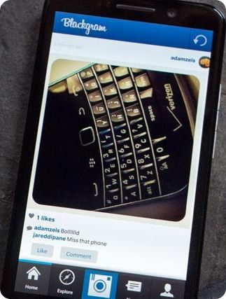 Llega BlackGram, el Instagram de BlackBerry 10
