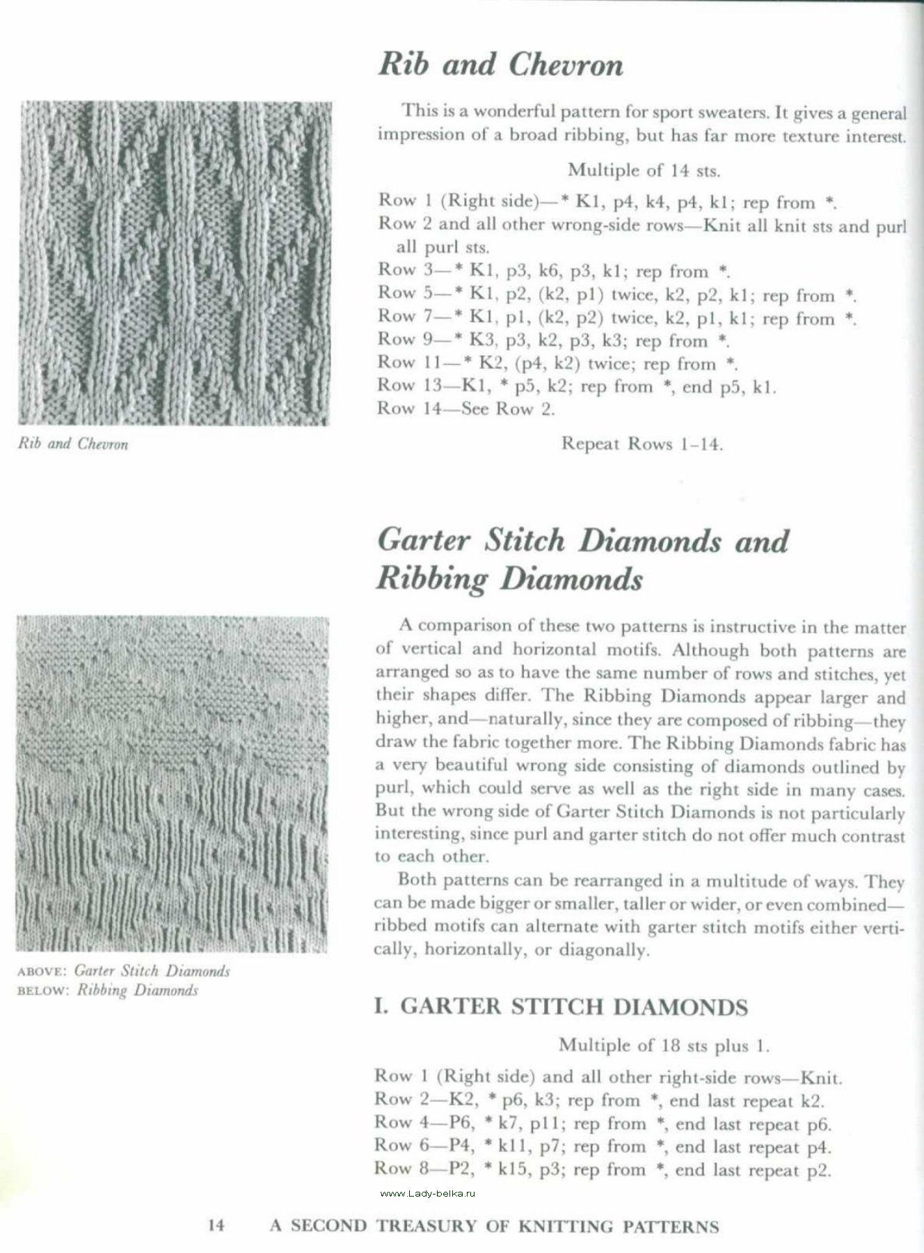 A Second Treasury of knitting patterns 14   Barbara G. Walker ...