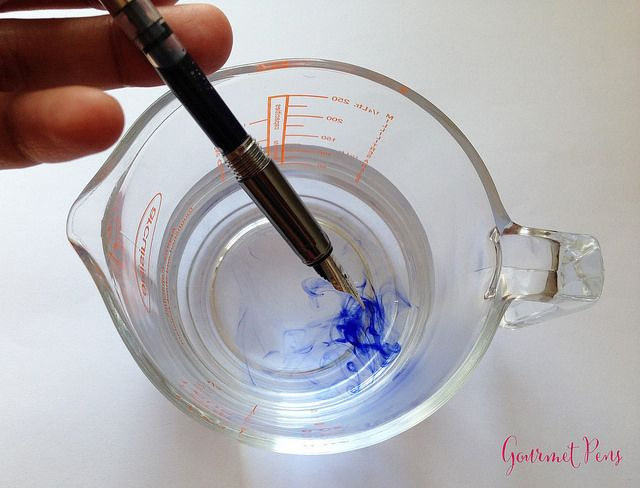 The basics cleaning a fountain pen with a converter pen madness