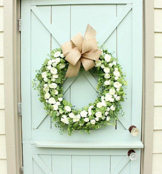 Spring Wreath ~ Year Round Wreath ~ Front Door Wreath ~ Wedding Wreath ~ Door  Wreath