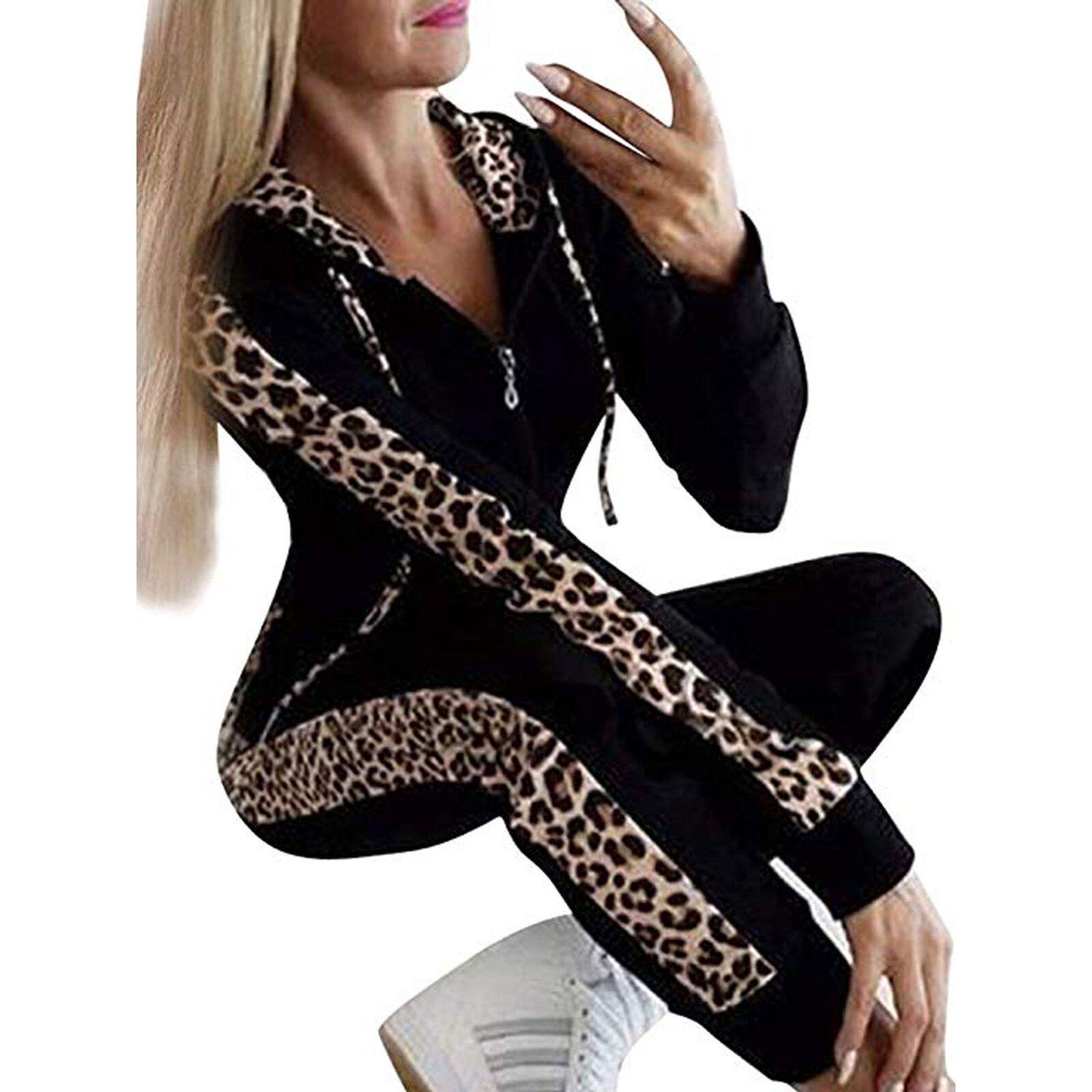 2PCS Women Tracksuits Set Lounge Wear Ladies Top Hoodies Suit Pants Loungewear