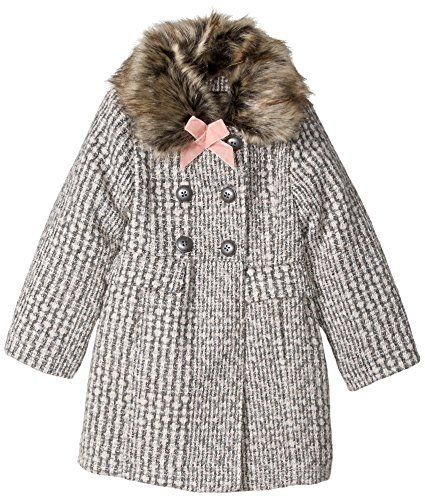 acc5aec04 Jessica Simpson Baby Toddler Girls  Sweet Faux Wool Winter Jacket ...