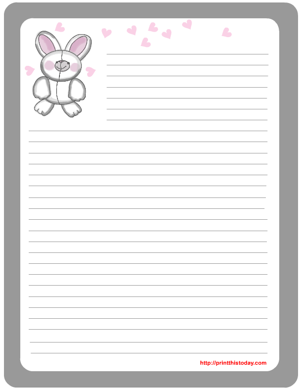 Download The Free Printable Official Easter Bunny Stationery And