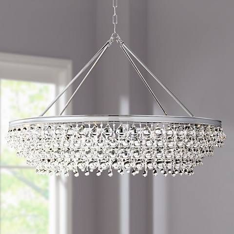 Crystorama calypso 40w chrome round island chandelier living room chandelierschandeliers moderncontemporary