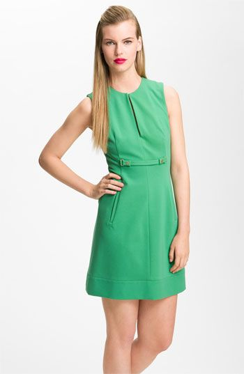 color - KIWI - Diane von Furstenberg 'Catherine' Retro Shift Dress available at Nordstrom - love this - so cute
