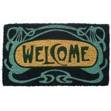 Handmade Art Deco Welcome Doormat