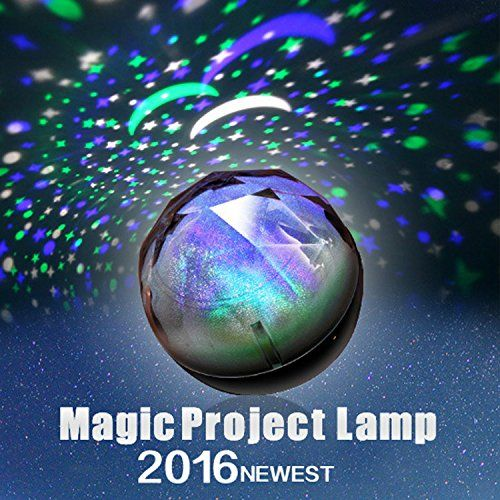 Semlos New Magic Diamonds Projection Lamp 3 Led Portable Night Light For Kids And Adults Decorative Light Night Light Nursery Night Light Night Light Projector