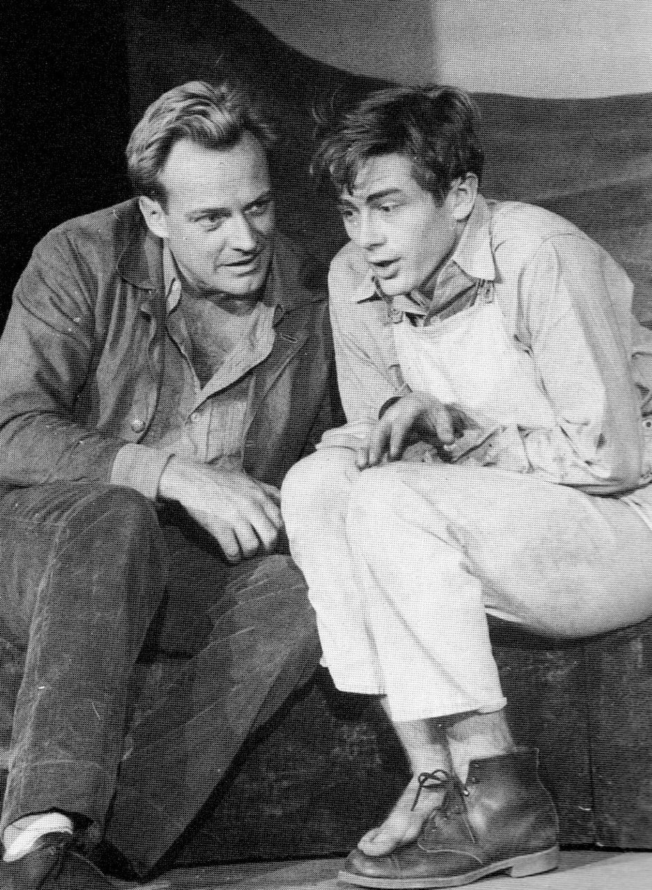 """James Dean in his first Broadway appearance, """"See the Jaguar"""", 1952. S)"""