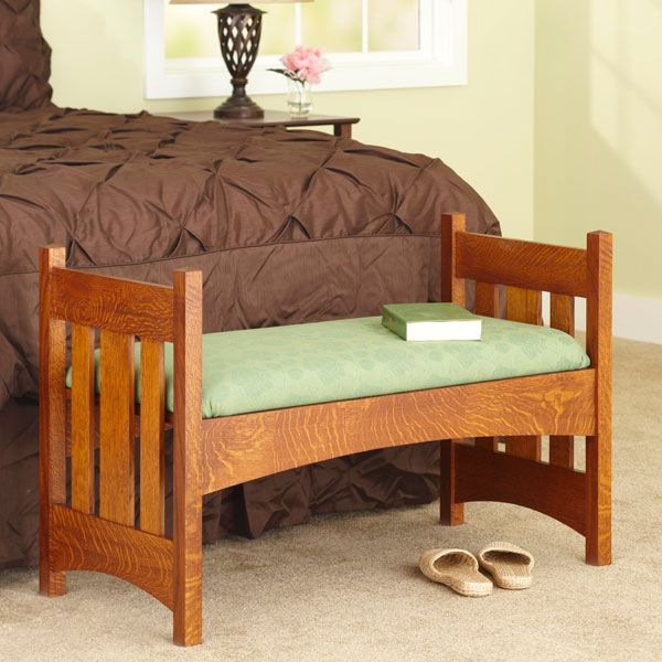 Arts Crafts Style Bench Woodworking Plan From Wood Magazine Furniture Plans Furniture Project Plans Furniture
