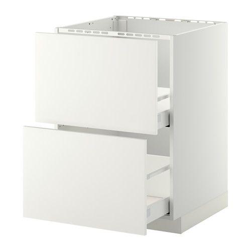 METOD / MAXIMERA Mobile lavello/2frontali/2cassetti, bianco, Häggeby
