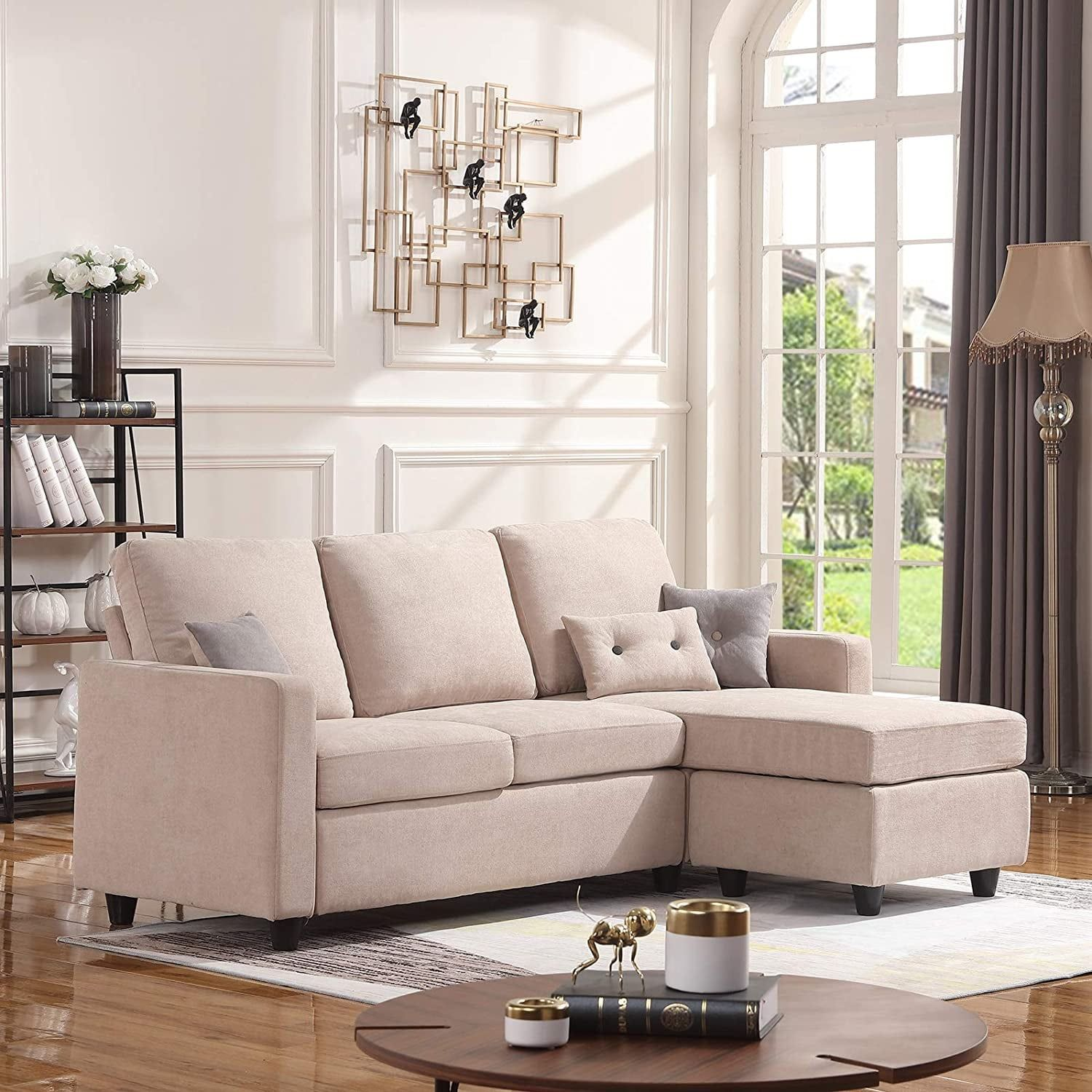 Honbay Convertible Sectional Sofa Couch In 2020 Sofas For Small Spaces Sectional Sofa Couch Couches For Small Spaces