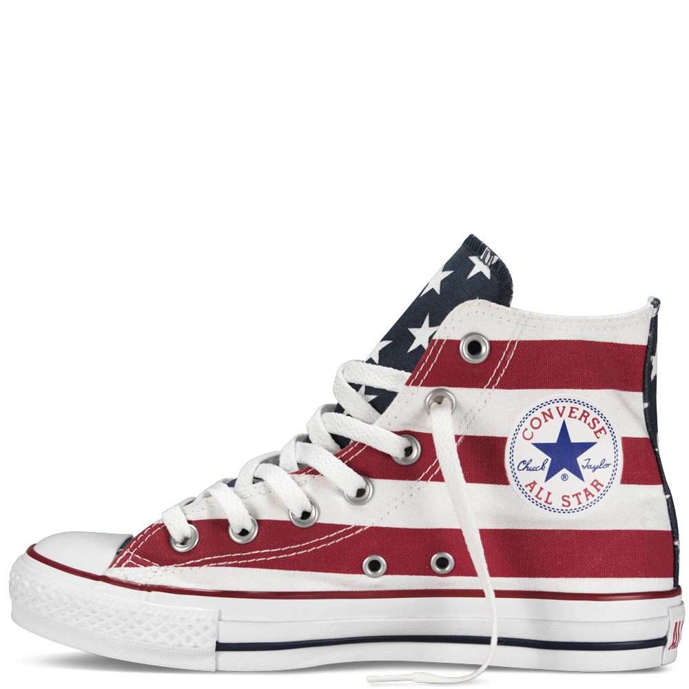Chuck Taylor Stars and Bars White and Red All Star