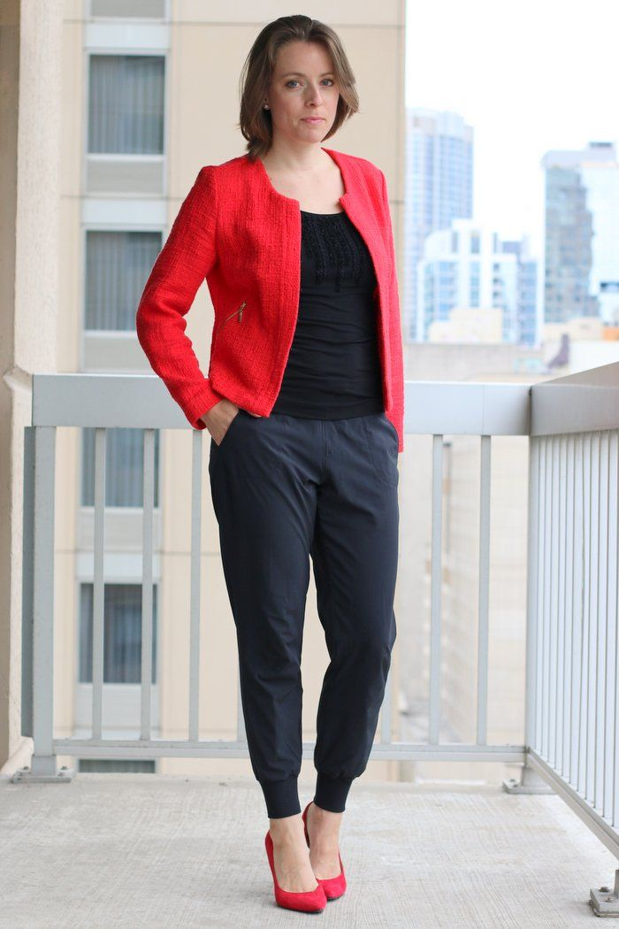 Because We All Should Wear Joggers To Work | Red blazer ...